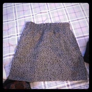Wool black and white skirt